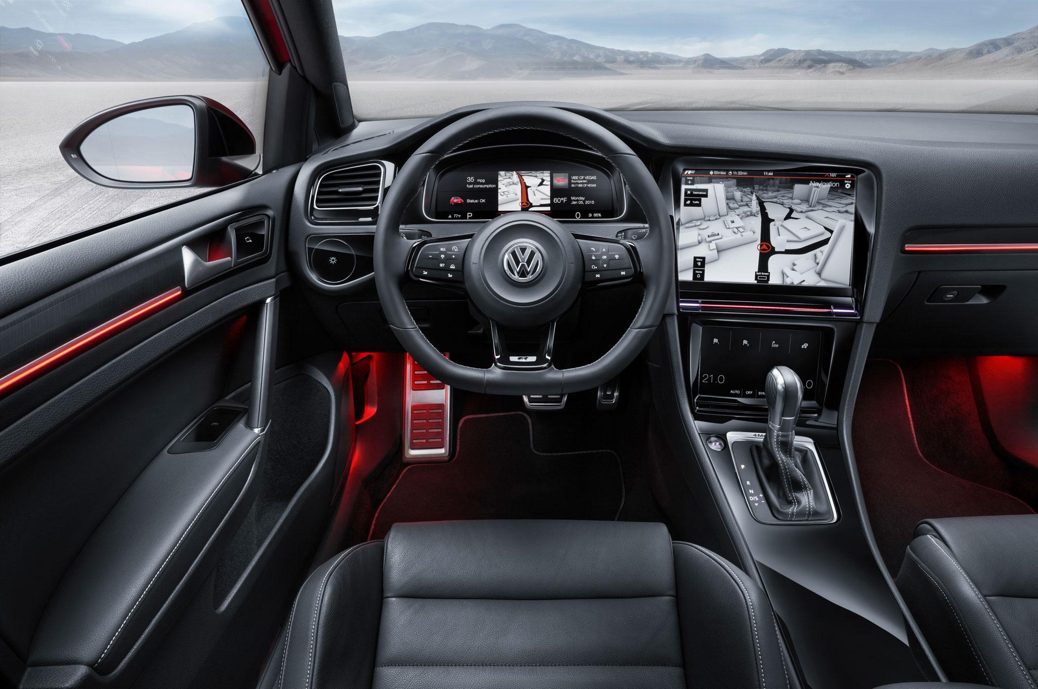 Volkswagen Golf R Touch Concept Cockpit