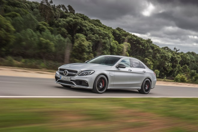 2015 Mercedes AMG C63 S Front Three Quarter In Motion 032