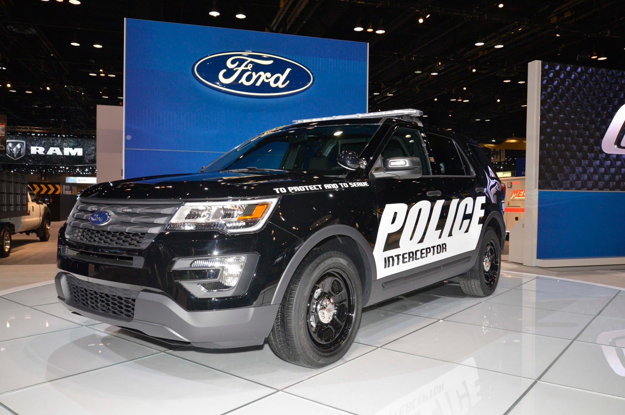 2016 Ford Police Interceptor Front Three Quarter