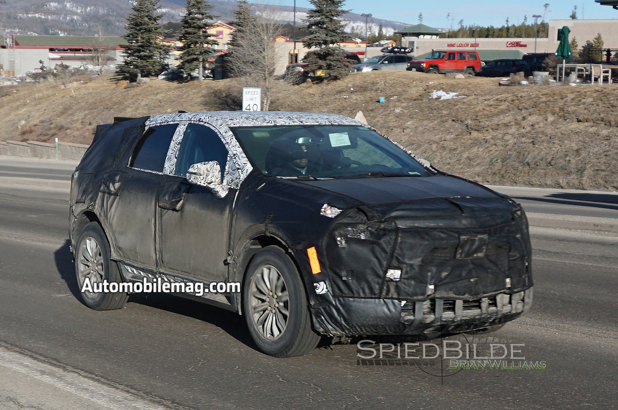 2017 Cadillac XT5 Prototype Front Three Quarter In Motion 02