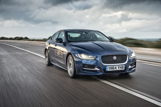 2017 Jaguar XE Front Three Quarter In Motion 01