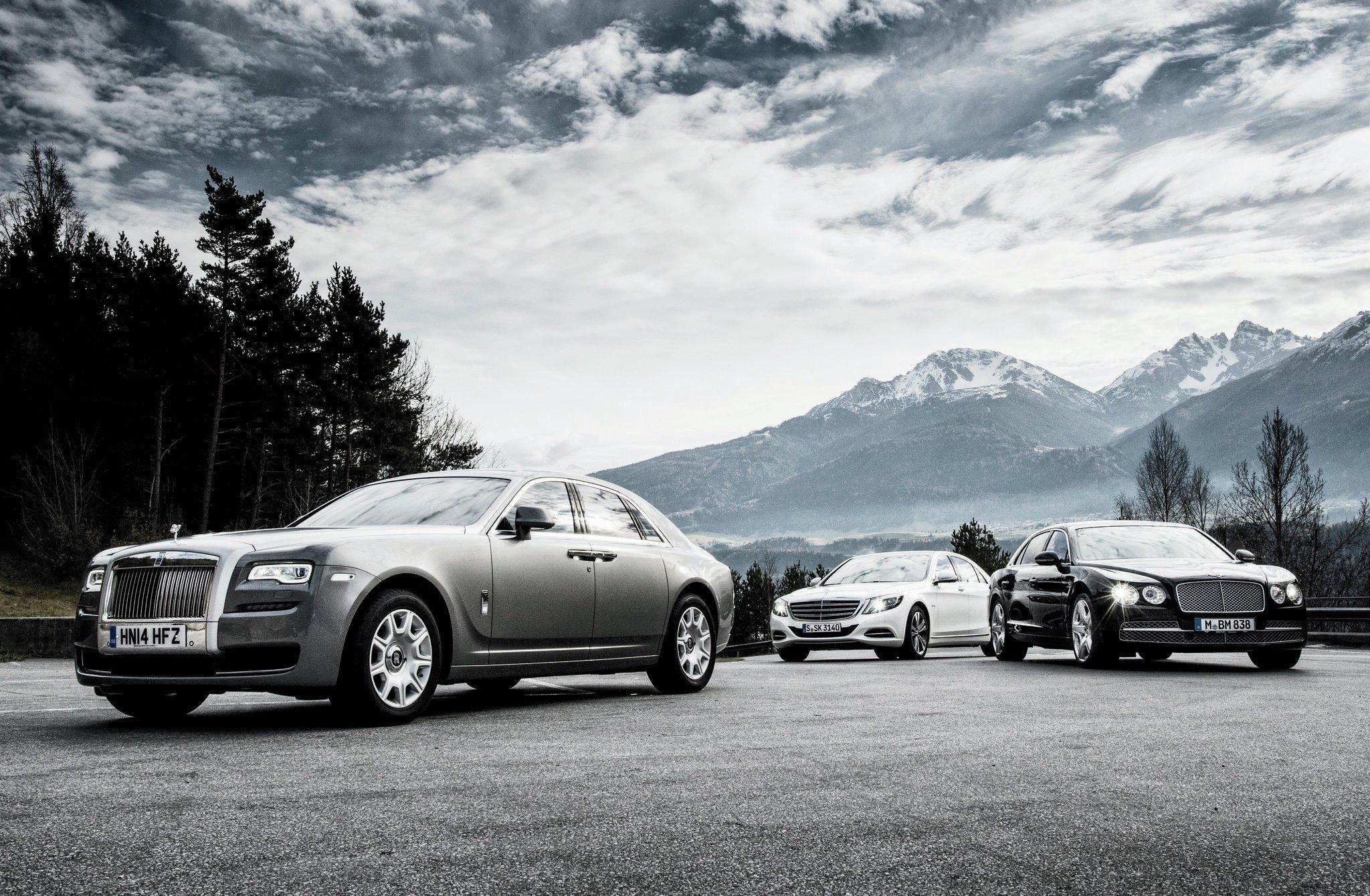 top gear - rolls royce ghost, bentley mulsanne & mercedes s65 amg