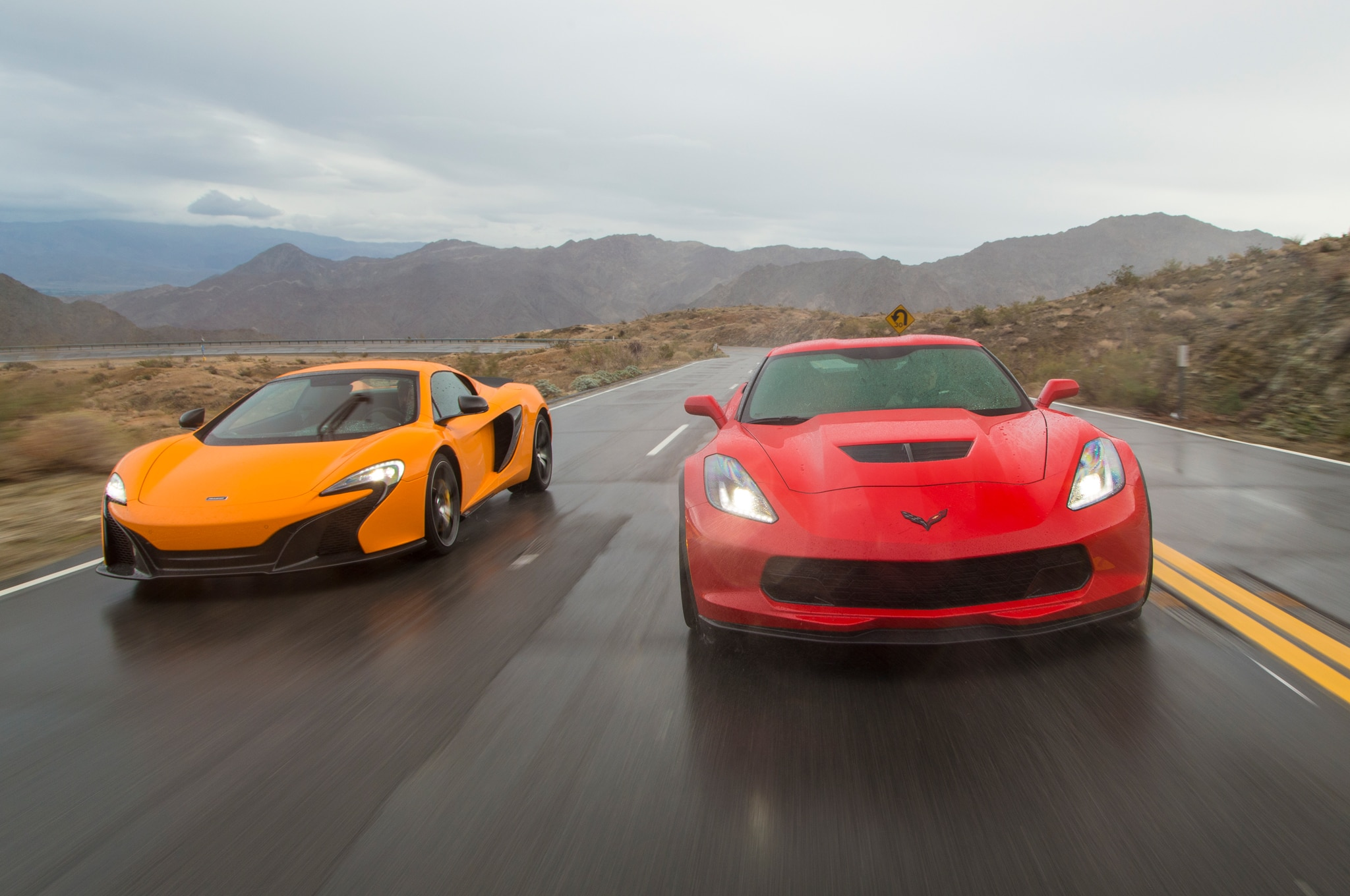 Balance of Power: Chevrolet Corvette Z06 and McLaren 650S Spider