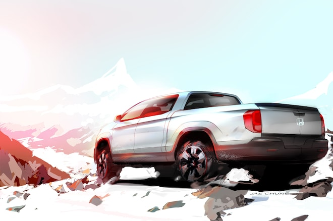 Next Gen Honda Ridgeline Rear Side View Teaser