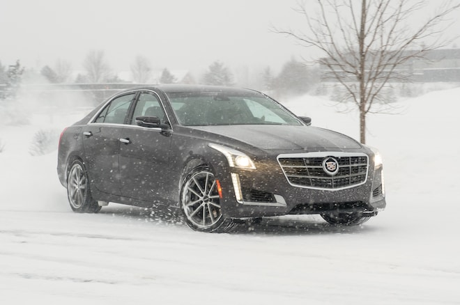 2014 Cadillac CTS Vsport Front Three Quarter In Motion 07