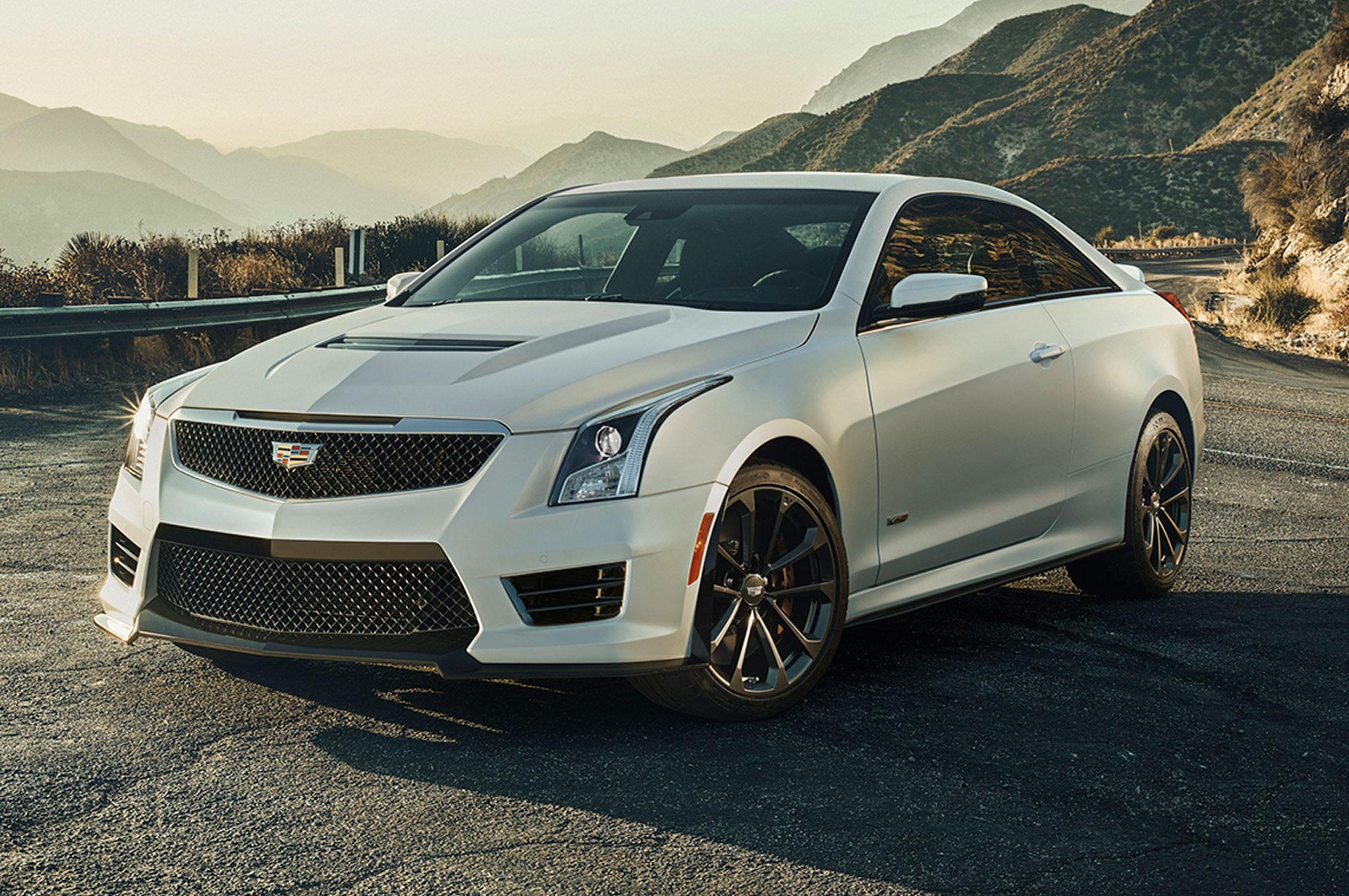 2016 Cadillac ATS V Coupe Front Three Quarter View