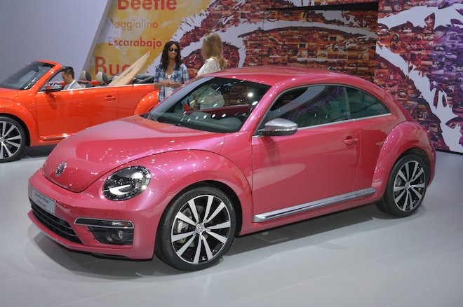 Beetle Pink Color Edition Rear Three Quarter