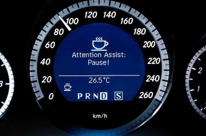 Mercedes Benz Attention Assist Instrument Cluster Warning