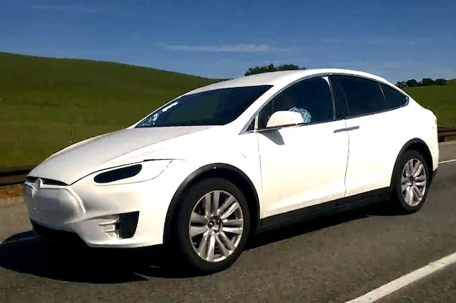 Tesla Model X Prototype Spied Front Three Quarters