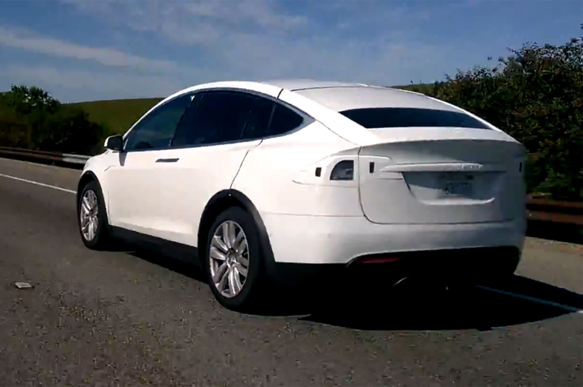 Tesla Model X Crossover Spotted Testing in California