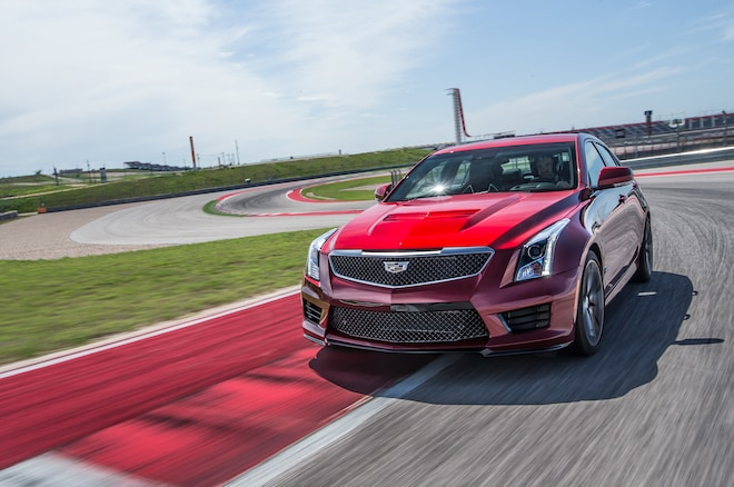 2016 Cadillac ATS V Front Three Quarter In Motion 01