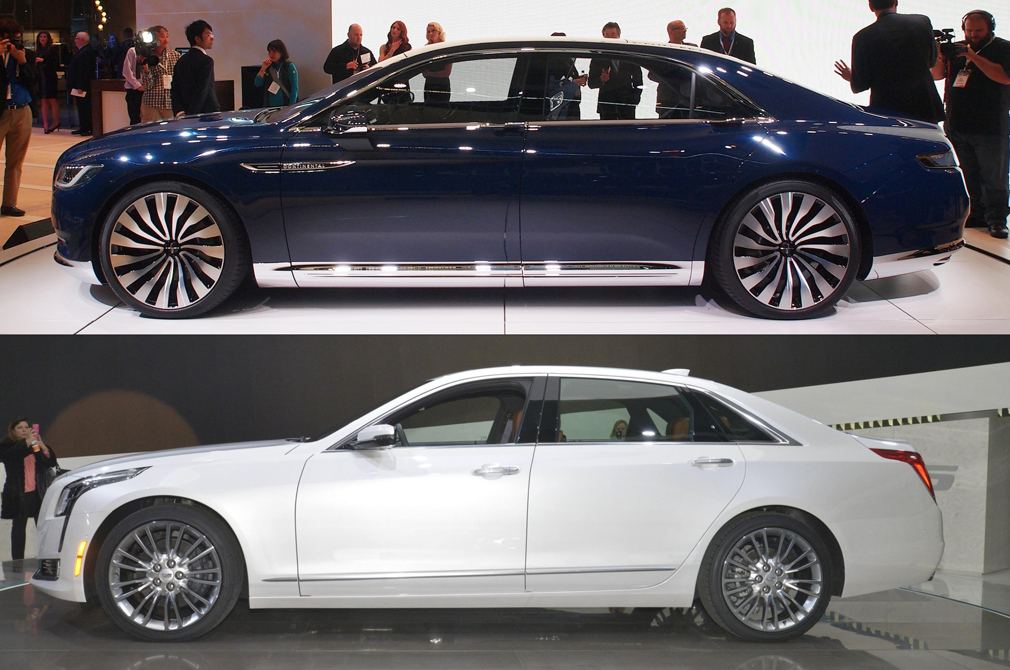 American Luxury Face-Off: Cadillac CT6 vs. Lincoln Continental Concept