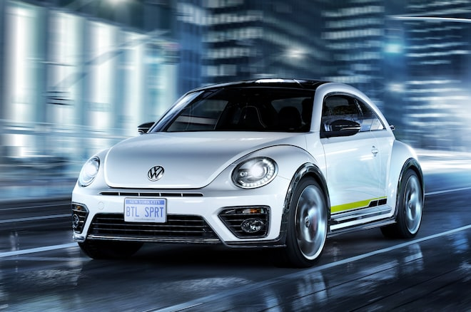 Beetle R Line Front Three Quarter In Motion