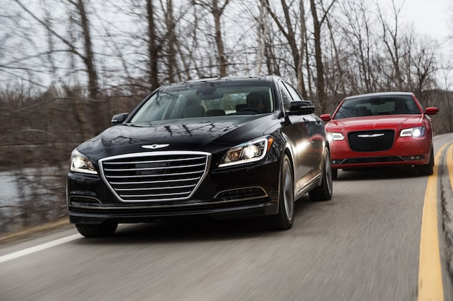 2015 Chrysler 300 V6 AWD Vs 2015 Hyundai Genesis V6 AWD Moving 7
