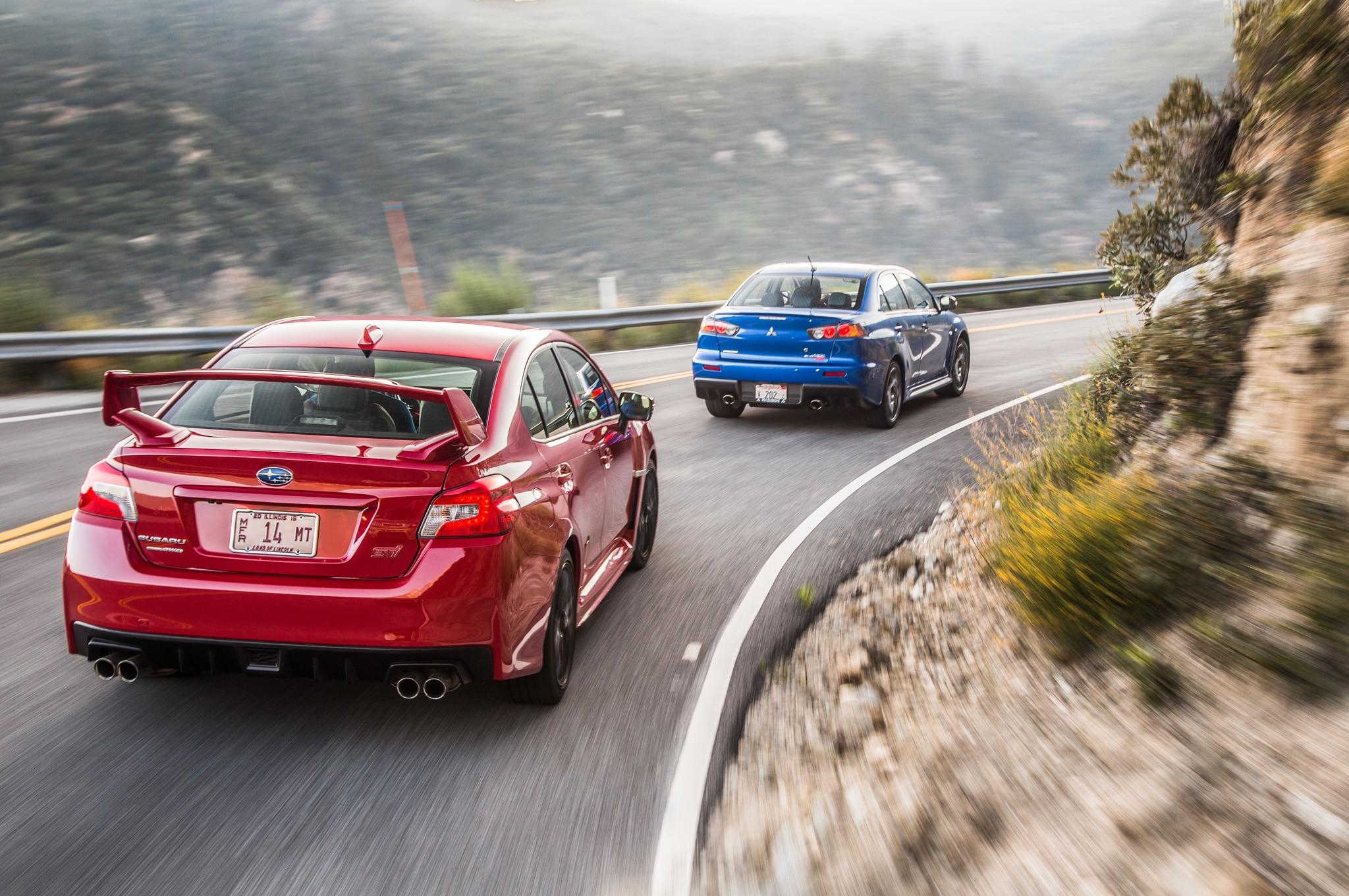 The End of a Rivalry: Mitsubishi Lancer Evolution MR and Subaru WRX STI