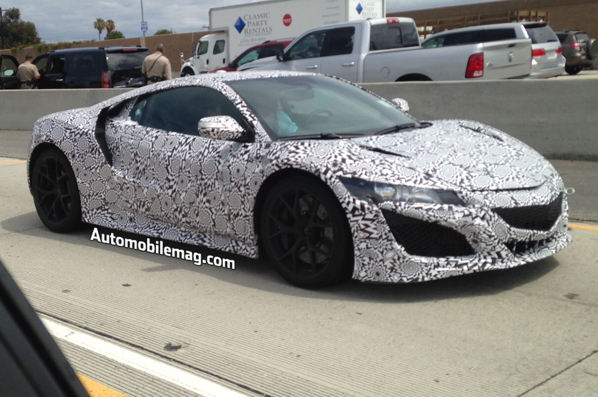 2016 Acura NSX Spied On 405 Front Three Quarter