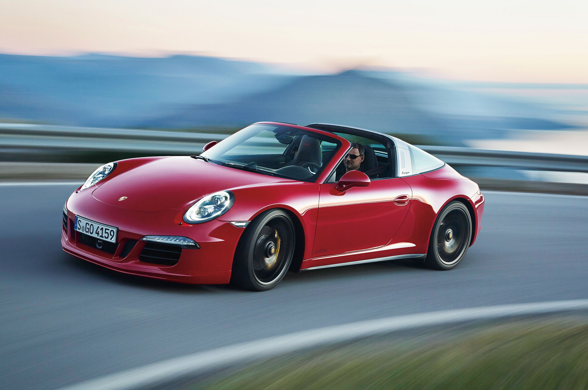 2016 Porsche 911 Targa 4 GTS Front Three Quarter In Motion2
