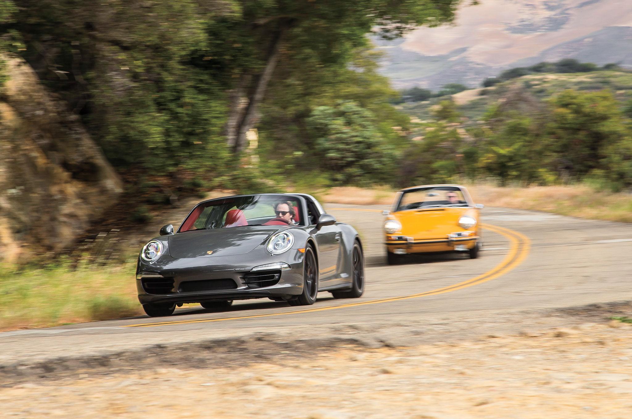 2016 Porsche 911 Targa 4S Front Three Quarter In Motion