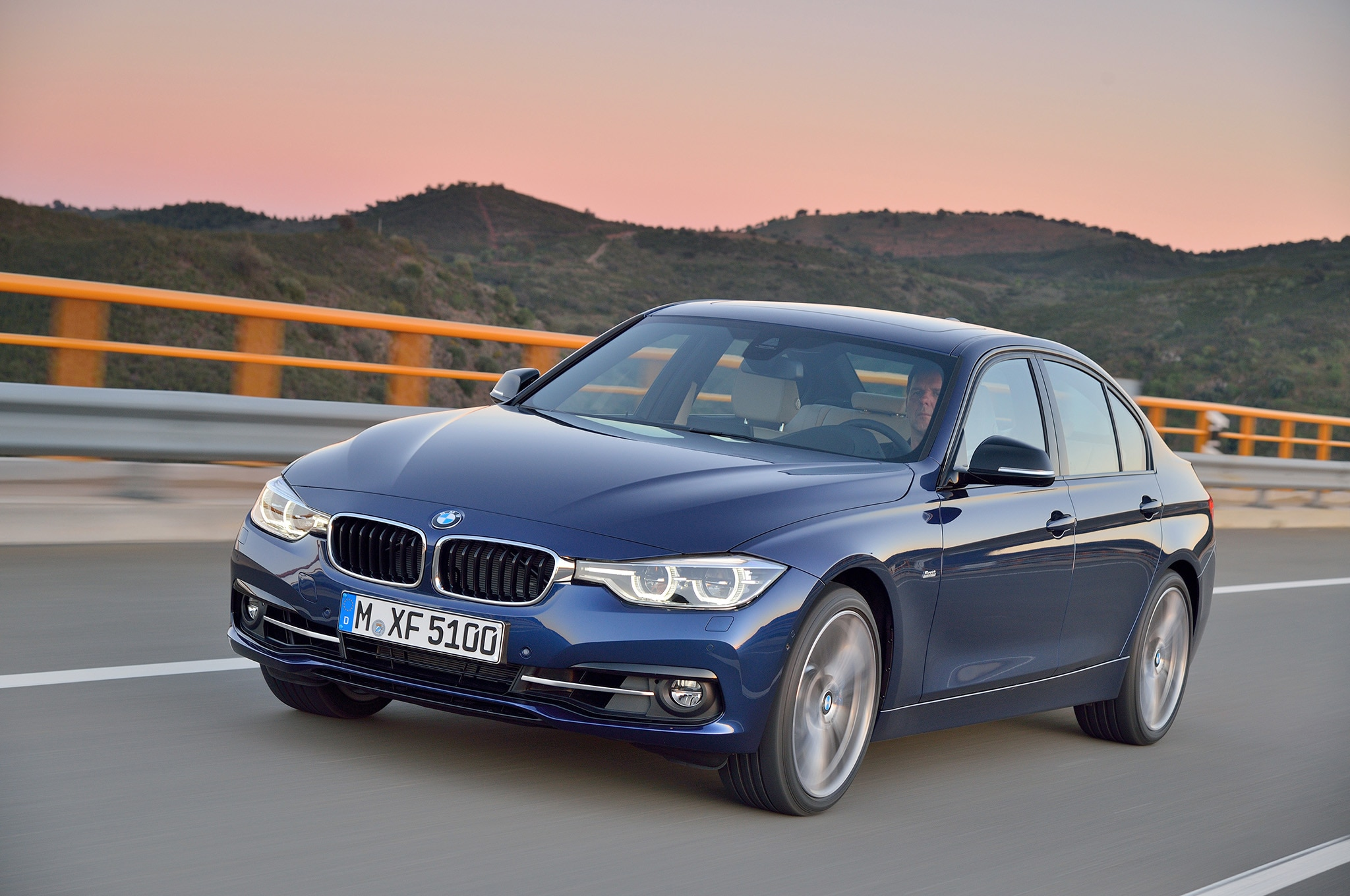 2016 Bmw 340i Front Three Quarters In Motion