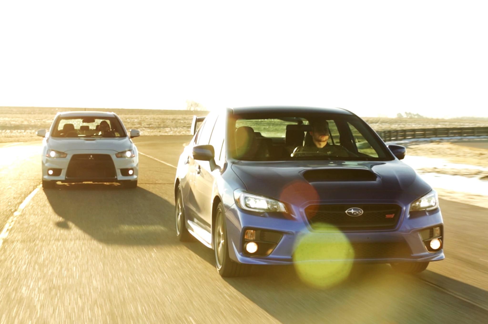 One Last Lap in the Mitsubishi Lancer Evolution and Subaru ...
