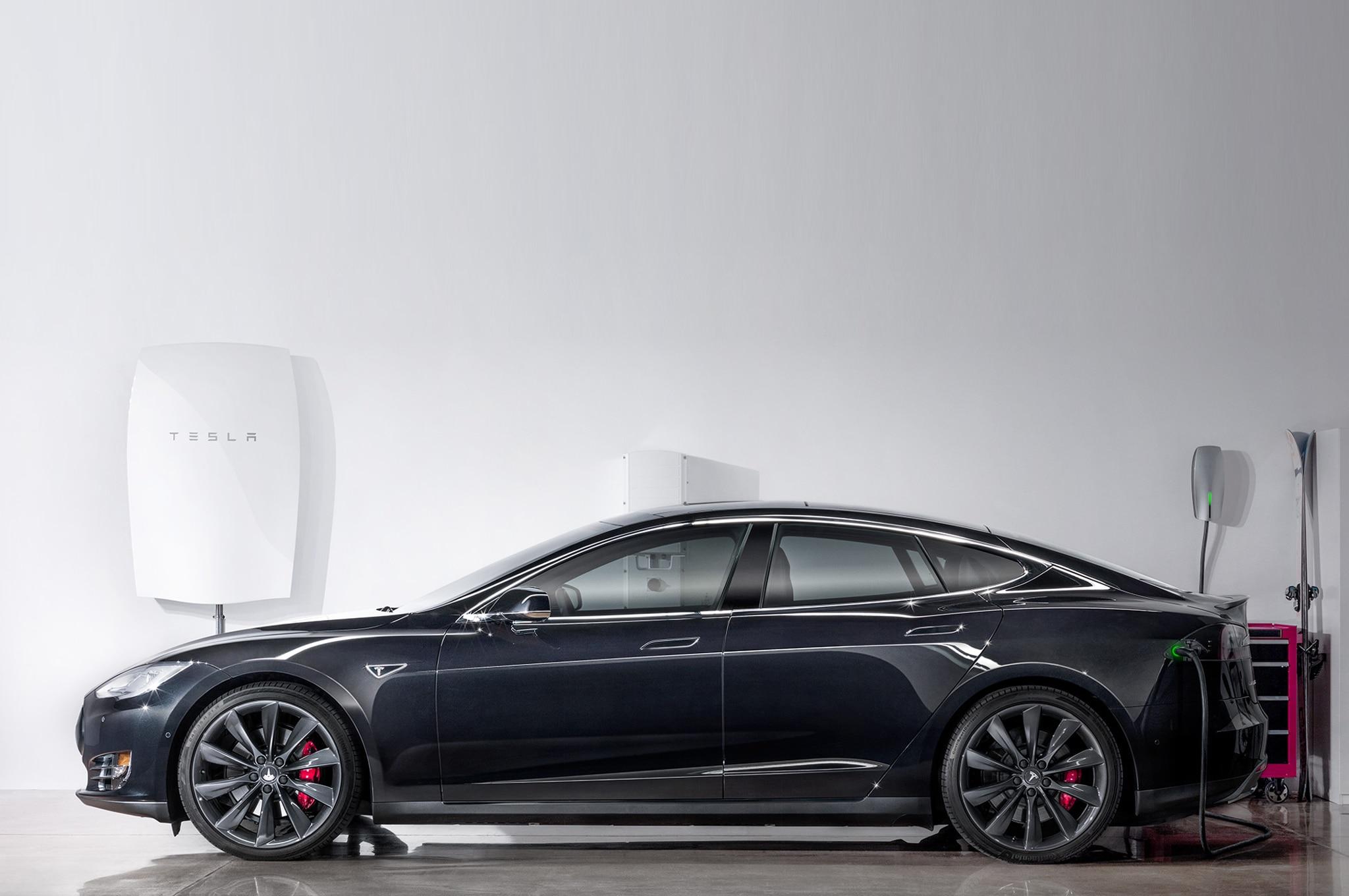 Tesla Powerwall With Model S