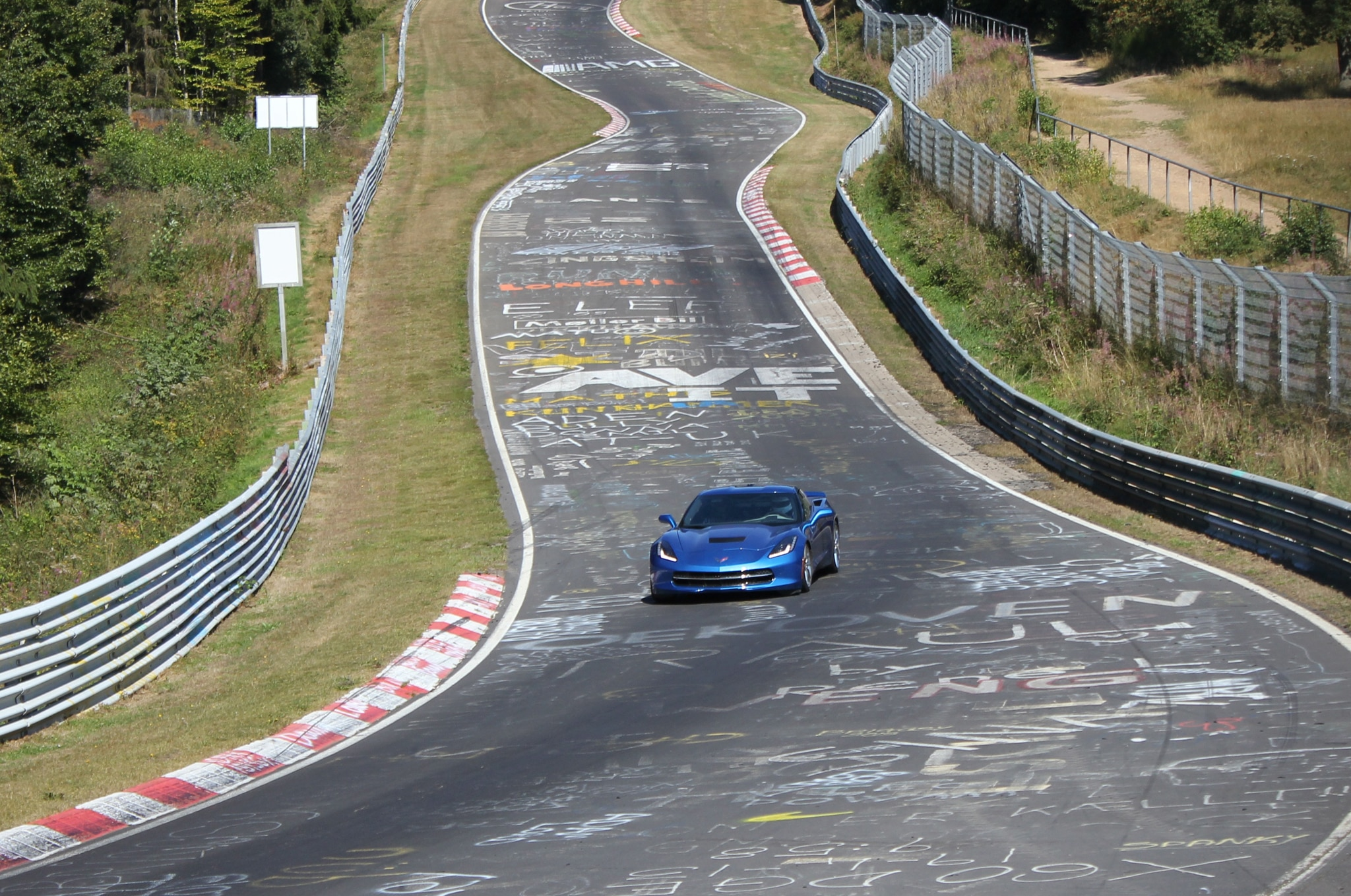 2014 Chevrolet Corvette Stingray Euro Market Testing On Nurburgring Left Front 2