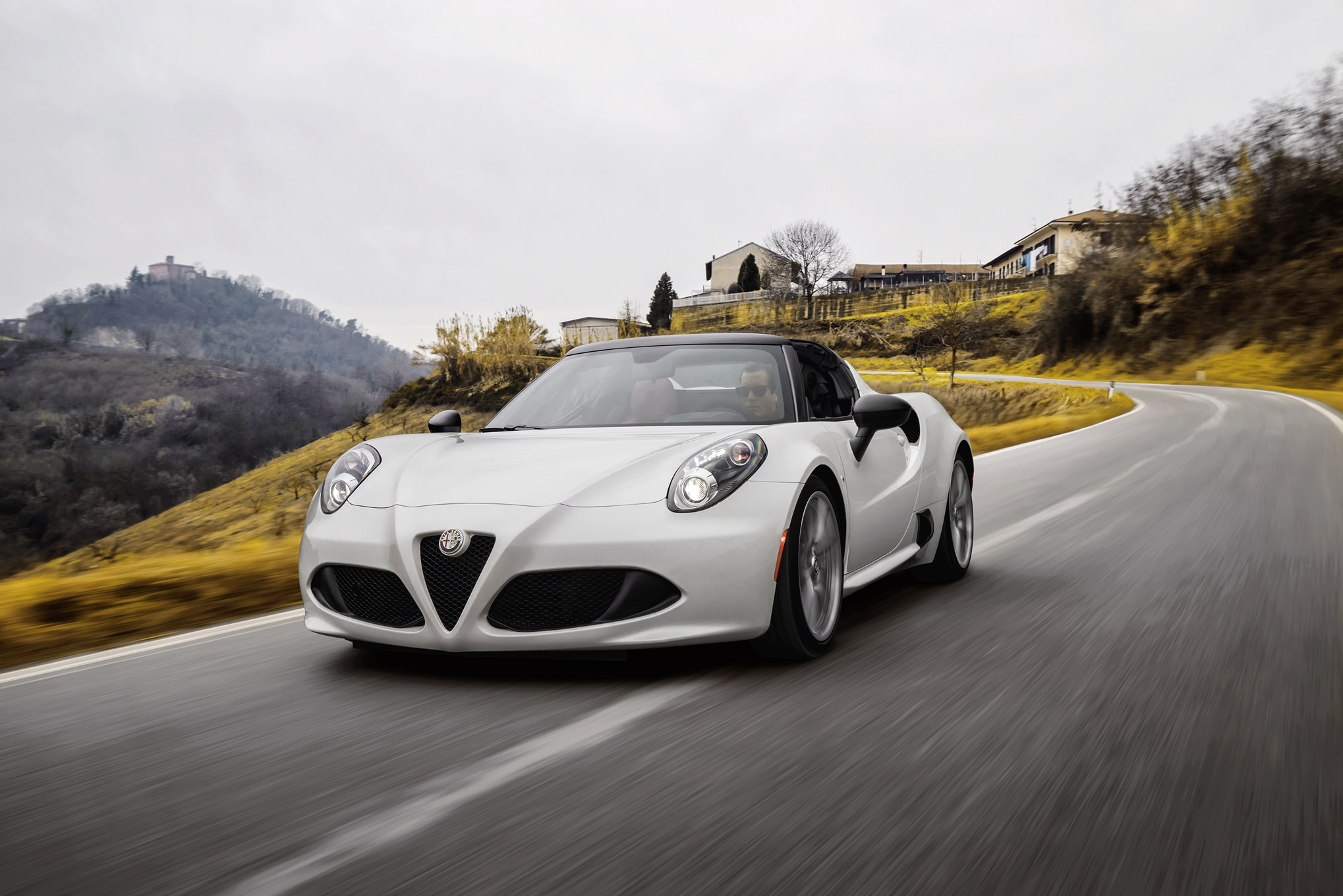 2015 Alfa Romeo 4C Spider Front Three Quarters In Motion
