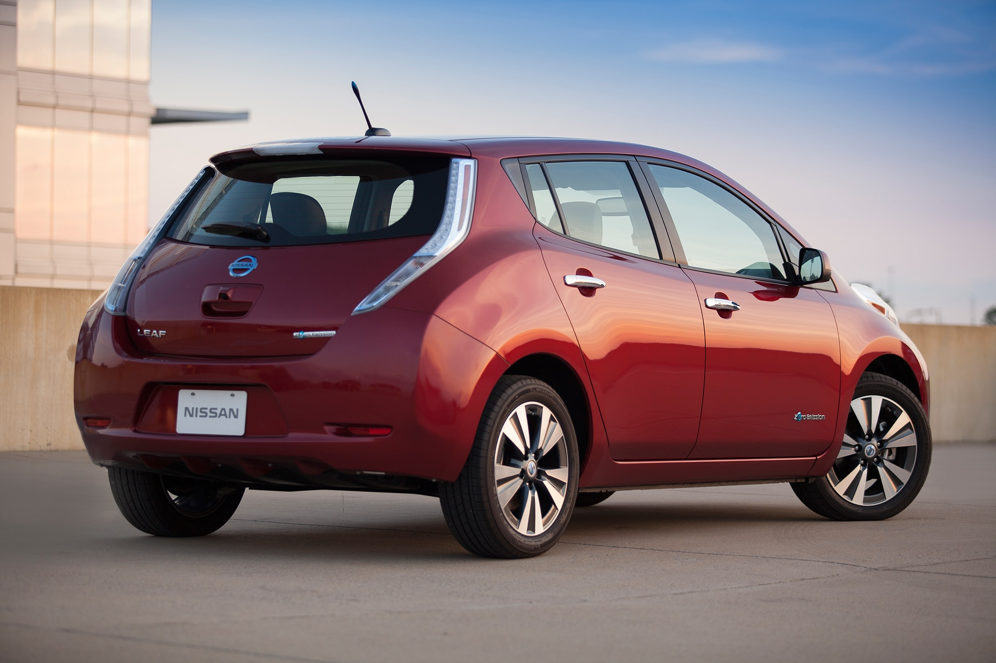 2015 Nissan Leaf Rear Three Quarters View