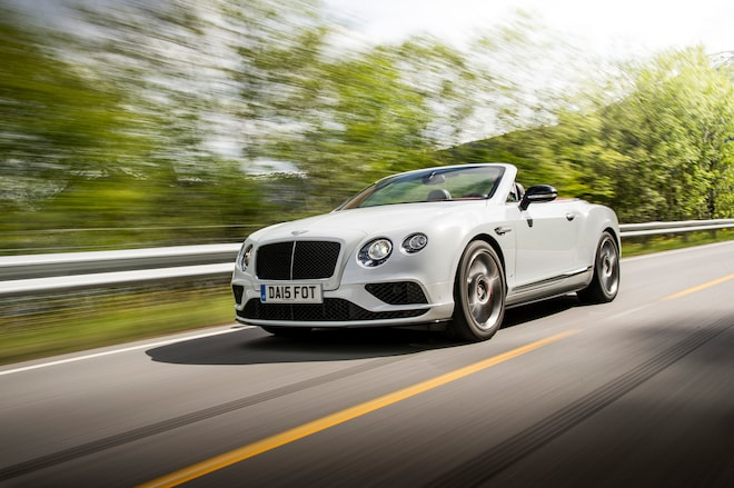 2016 Bentley Continental GT V8 S Convertible Front Three Quarter In Motion 031