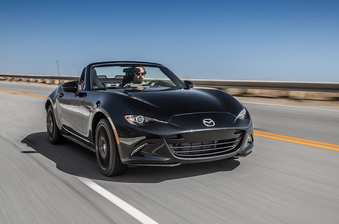 2016 Mazda MX 5 Miata Club Front Three Quarter In Motion 03