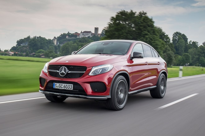 2016 Mercedes Benz GLE450 AMG 4Matic Coupe Front Three Quarter In Motion 07