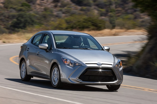 2016 Scion IA Front Three Quarter In Motion 05