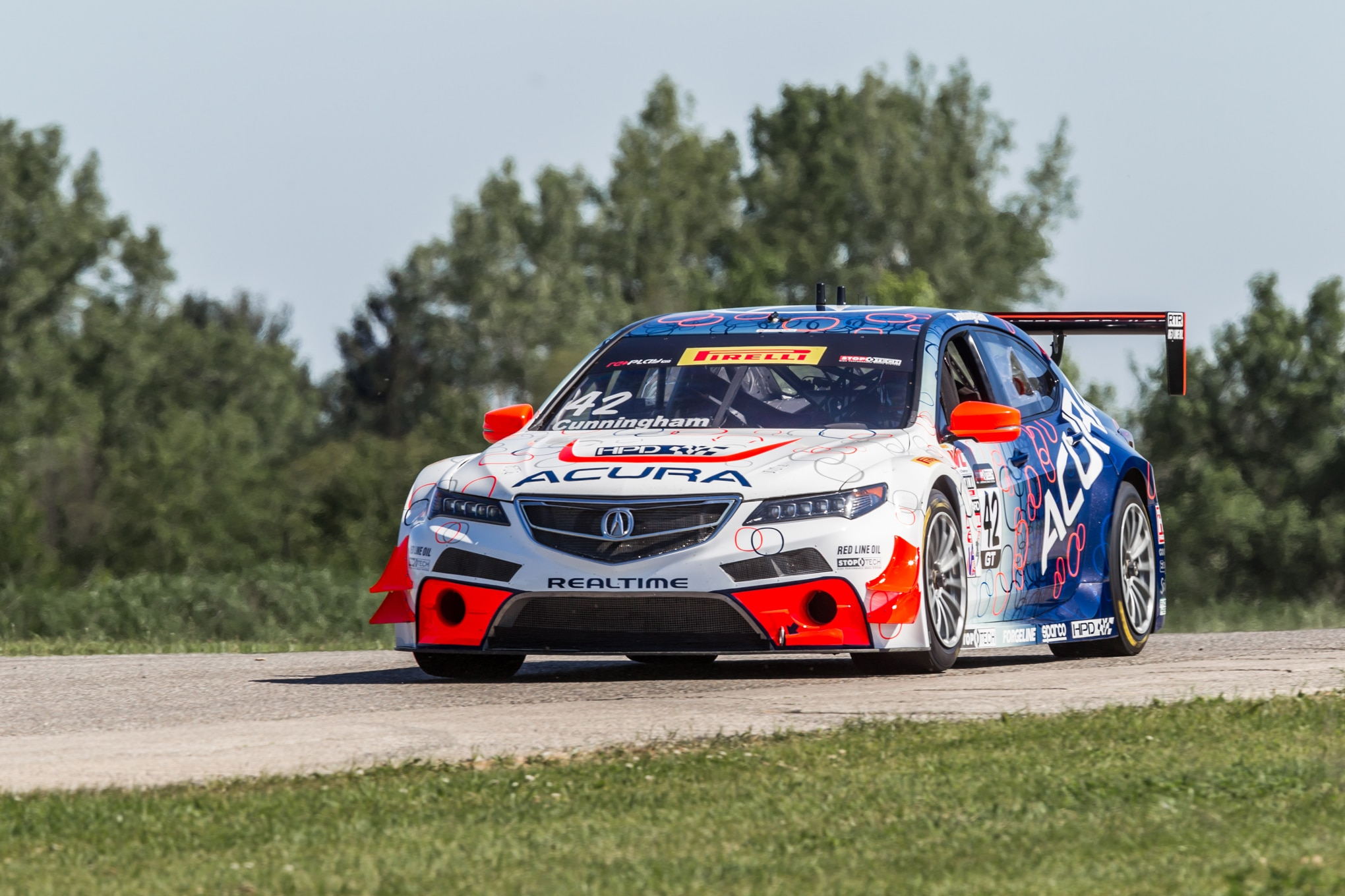 Acura TLX GT Race Car Front Three Quarters1