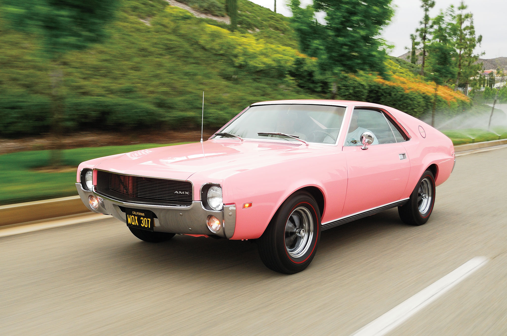 1968 AMC AMX Front Three Quarter In Motion1
