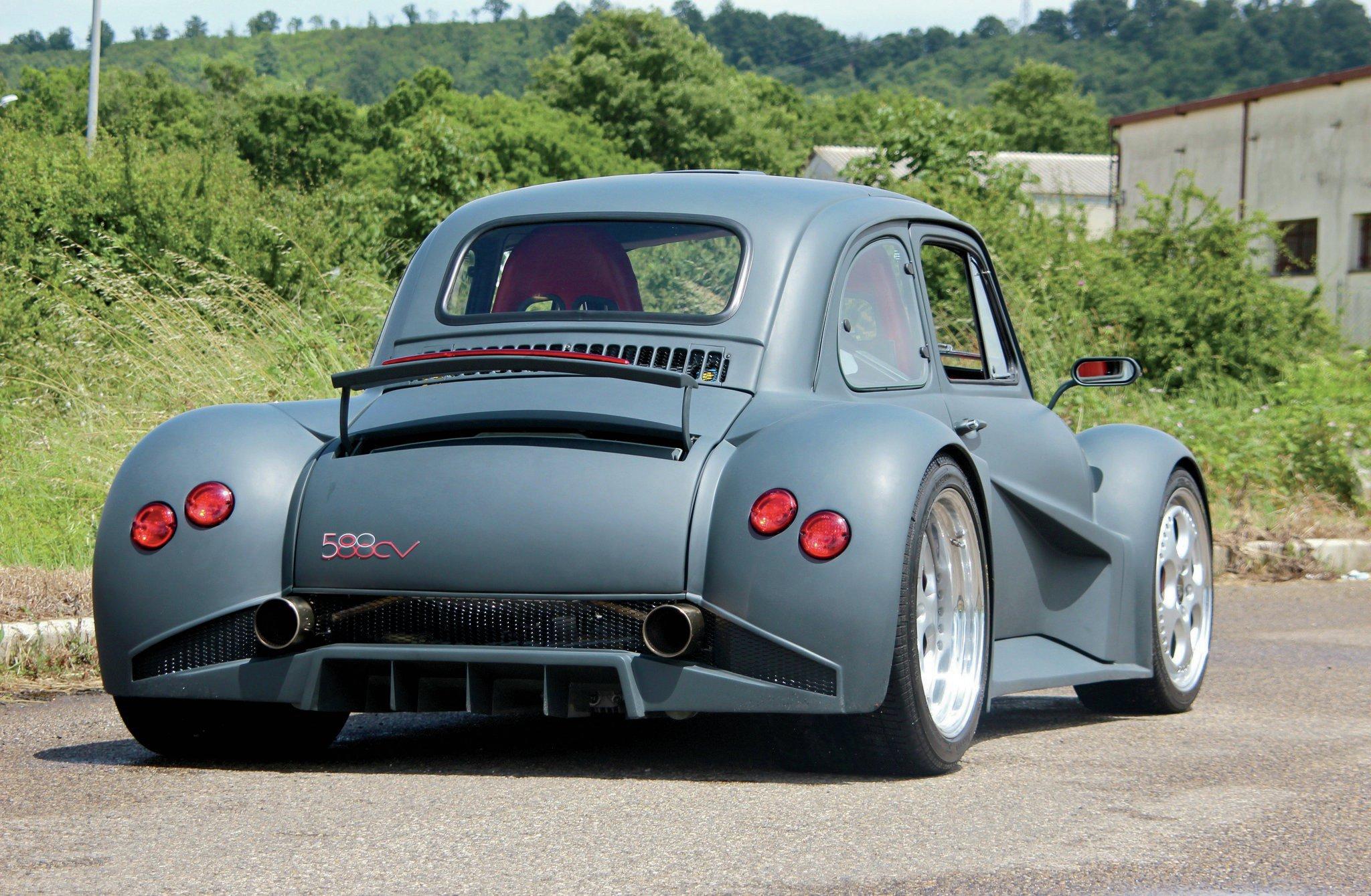 Wild Italians: The 580-HP, Lamborghini V-12-Powered Fiat 500