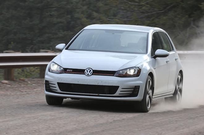2015 Volkswagen Golf GTI Front Three Quarter In Motion 02