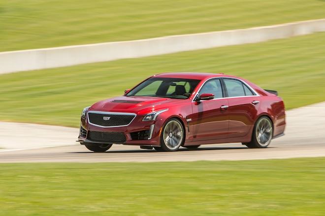 2016 Cadillac CTS V Sedan Front Three Quarter In Motion 04