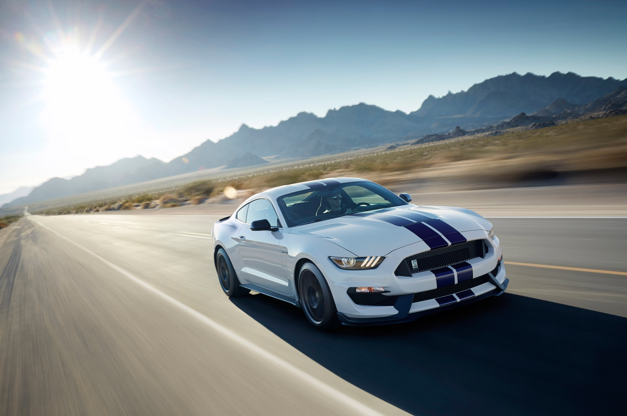 2016 Ford Shelby GT350 Mustang Front Three Quarters In Motion1