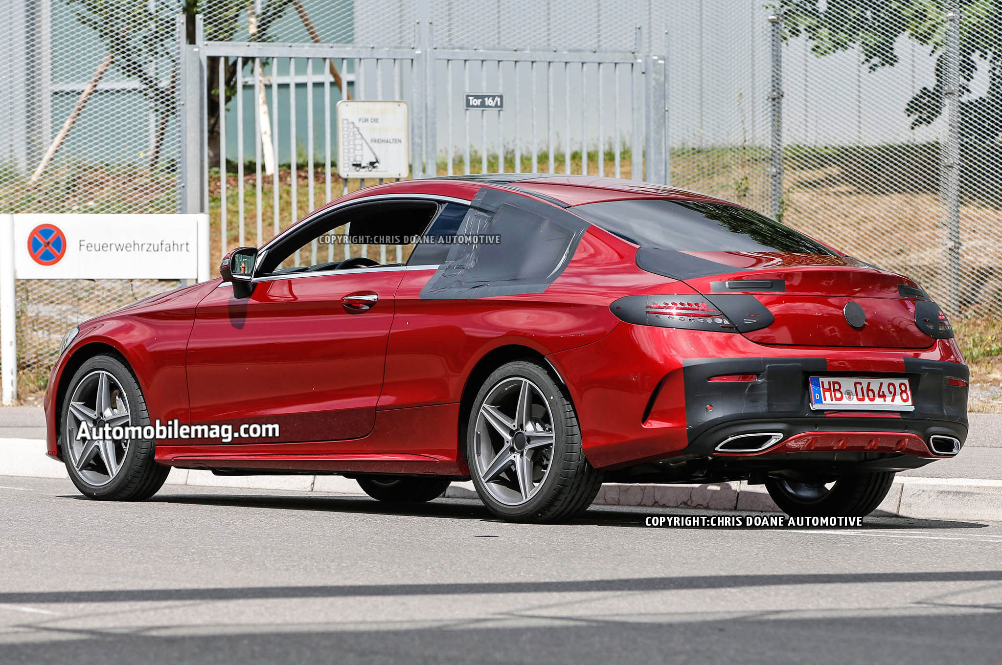 2016 mercedes benz c class coupe drops its camouflage early. Black Bedroom Furniture Sets. Home Design Ideas