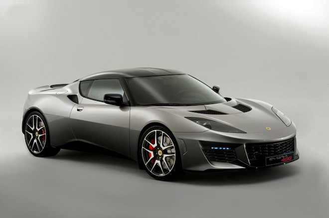 2016 Lotus Evora 400 Front Three Quarters 02
