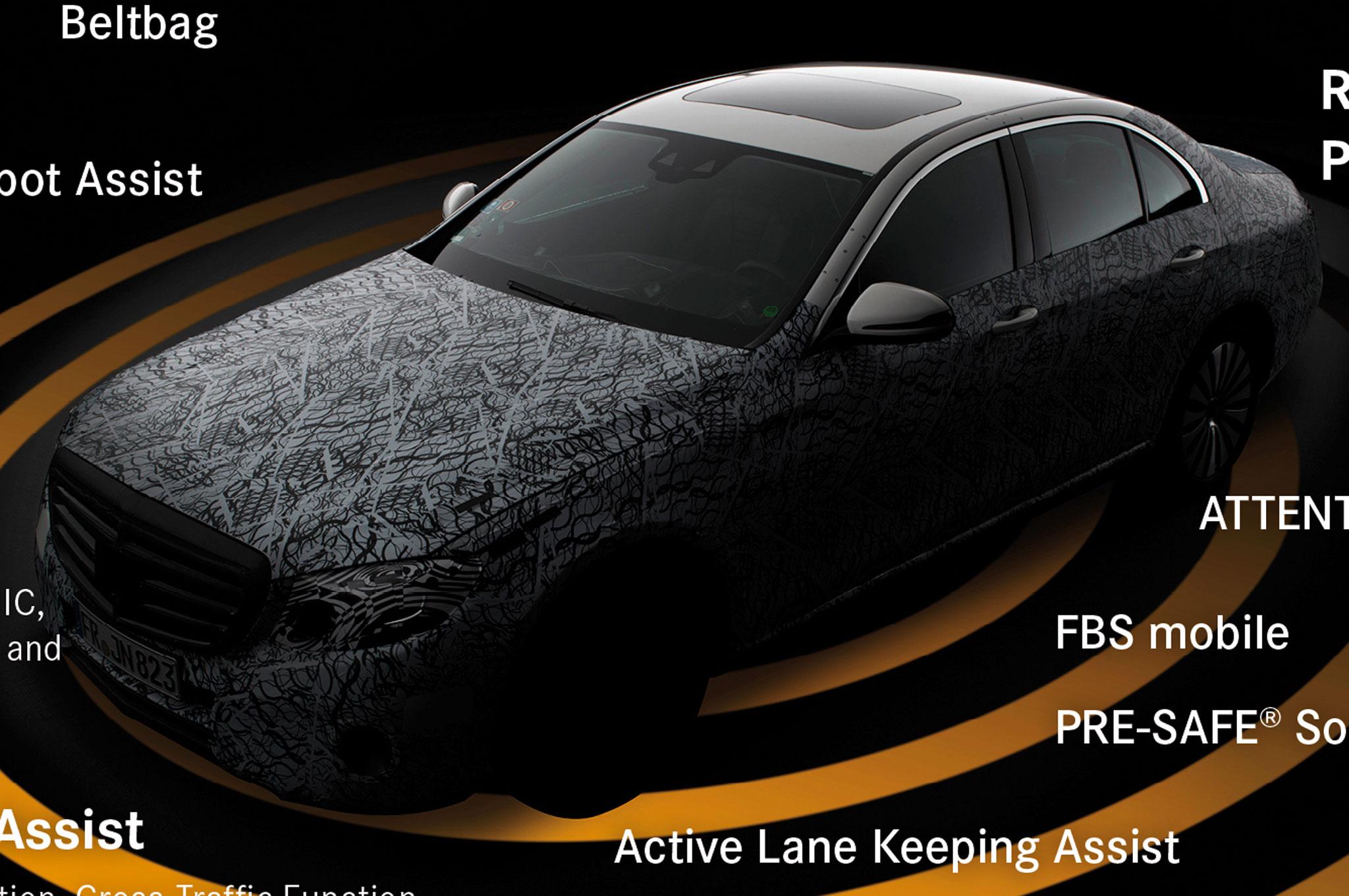 2017 Mercedes Benz E Class Graphic Closeup