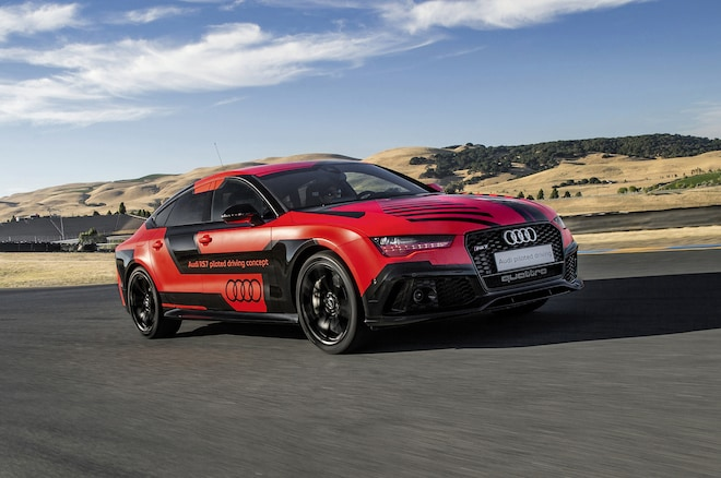 Audi RS 7 Autonomous Car At Sonoma Front Three Quarter 1