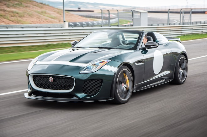 Jaguar F Type Project 7 Front Three Quarter In Motion 01