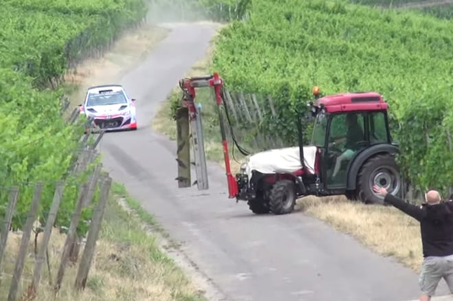 Rally Tractor Close Call