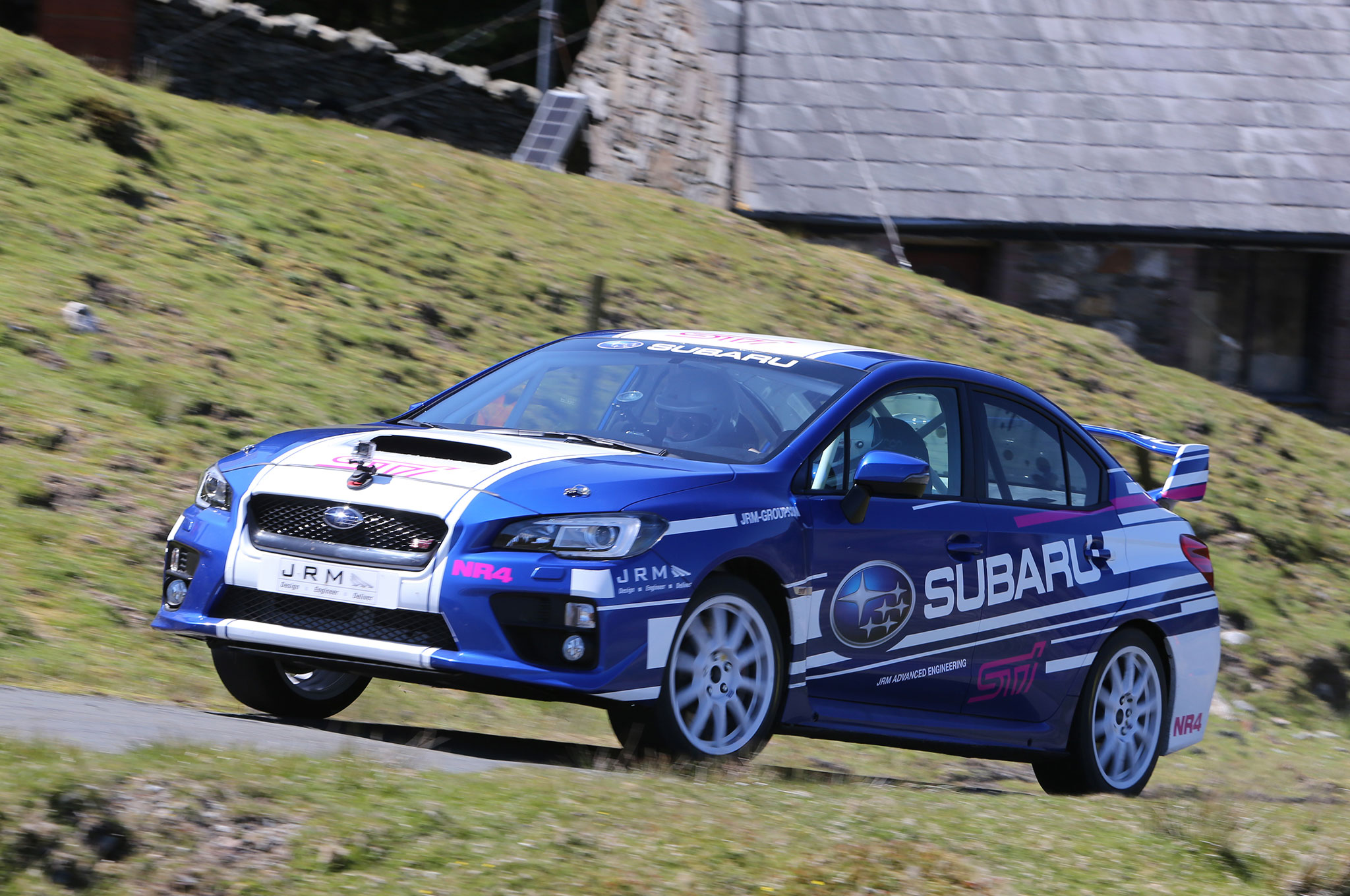 Ripping Around the Isle of Man in Subaru WRX STI Rally Cars