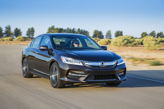 2016 Honda Accord Touring Front Three Quarter In Motion 07