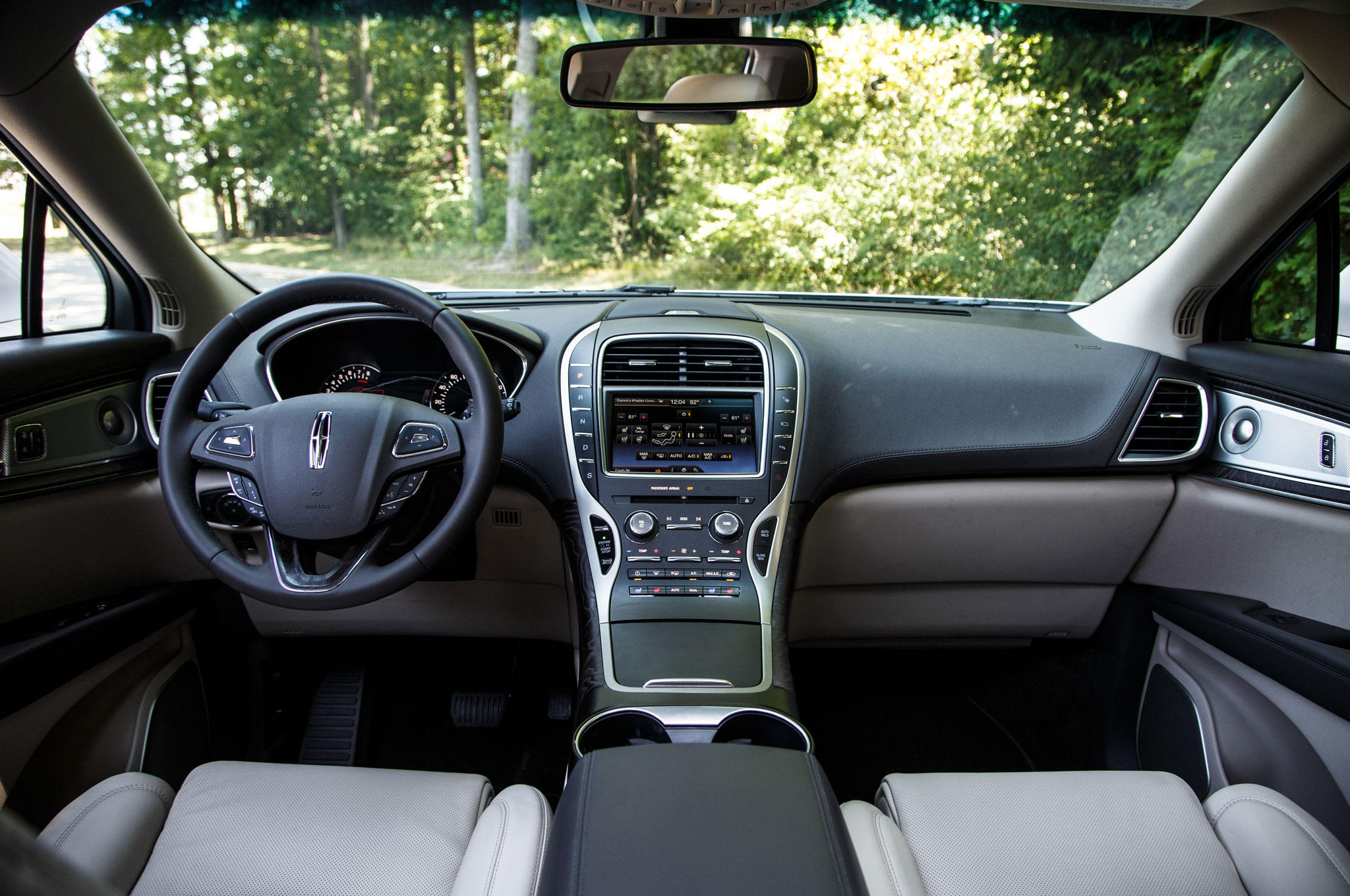 the actual interior capacities although of com design and lincoln infotainment steering test wheel road review autobytel reviews mkt