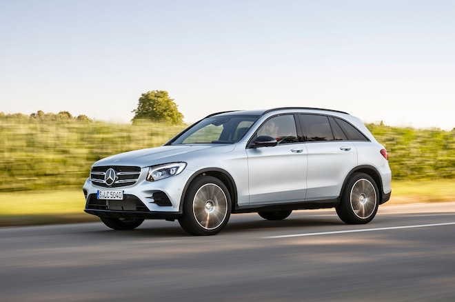 2016 Mercedes Benz GLC250 4Matic Front Three Quarter In Motion1