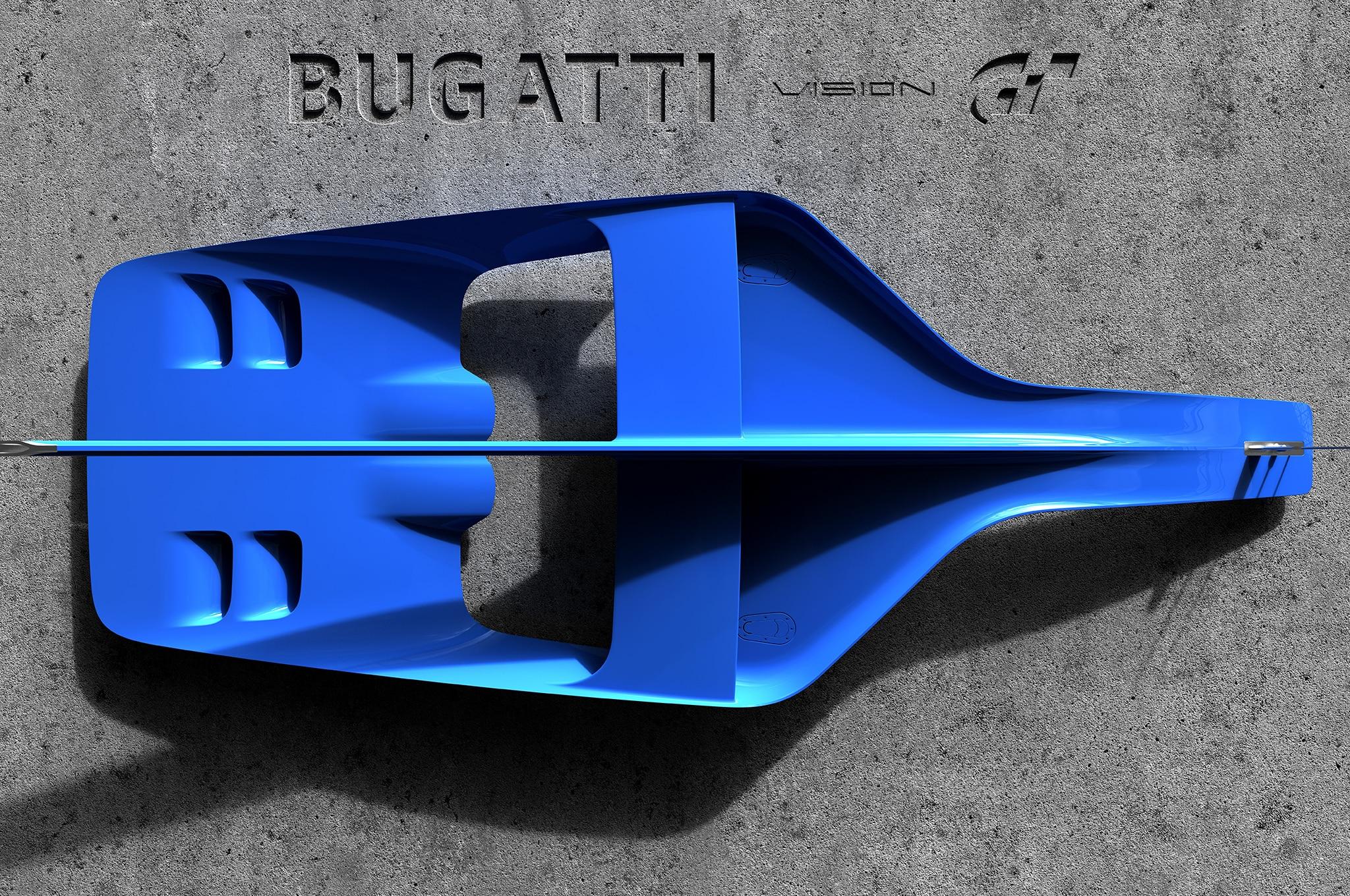 Bugatti Vision Gran Turismo Teaser Above