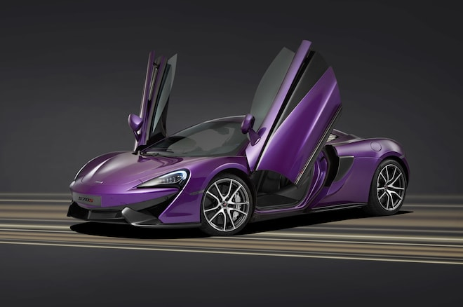 McLaren 570S Coupe By MSO Front Three Quarter With Doors Open